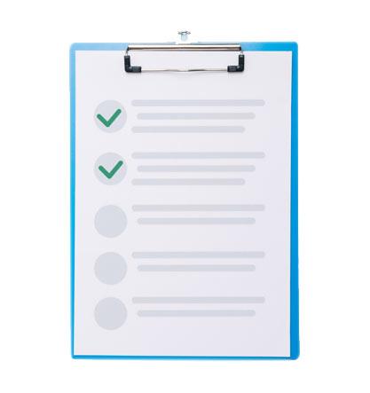 Check list evaluación